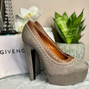 "GIVENCHY ""killer heels"" PONY HAIR PUMPS"